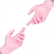 Перчатки нитриловые без пудры розовые S 100 шт